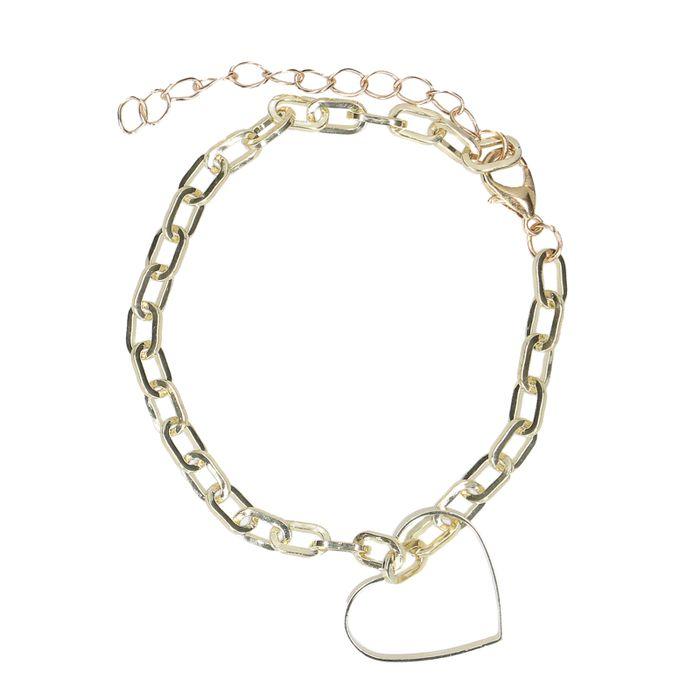 Bracelet avec petit cœur - doré