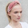 Velvet haarband oudroze