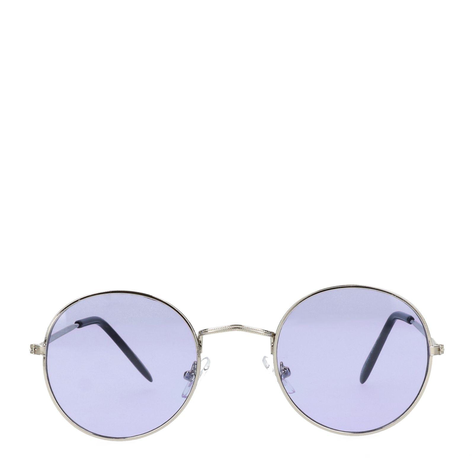 Retro zonnebril zilver