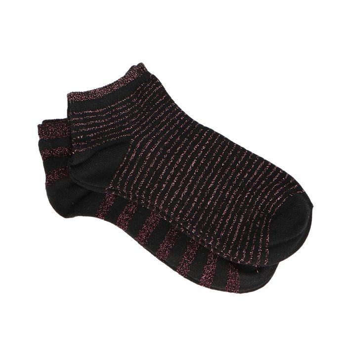 Schwarze Socken mit rosa Glitzer