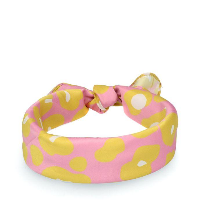 Foulard avec imprimé léopard - multicolore
