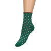 Groene gliter sokken met stippen