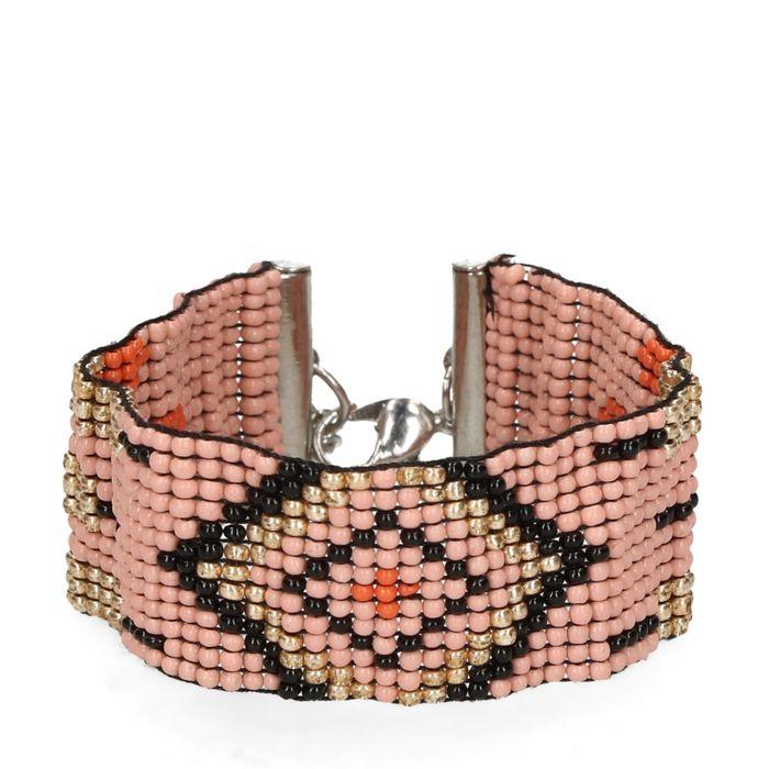 Roze armband met kralen