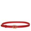 Roter Gürtel mit Ringen