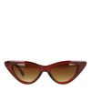 Braune Cateye-Sonnenbrille