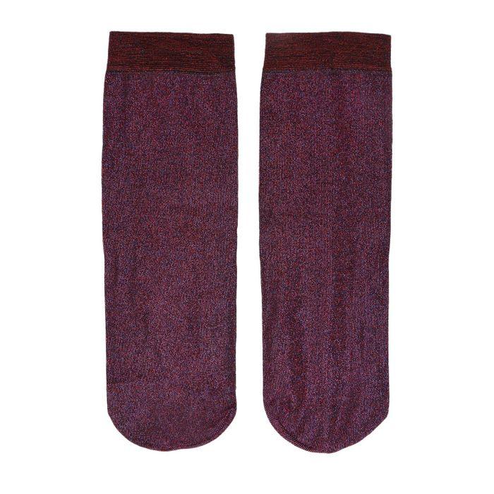 Chaussettes pailletées - rouge