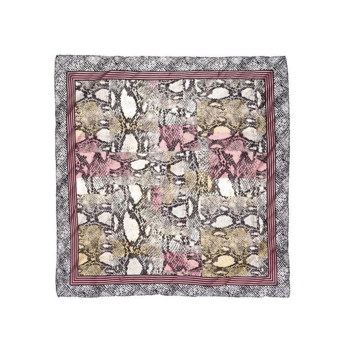 Grau-rosa Tuch mit Schlangenmuster