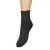 Schwarze Socken mit buntem Glitzer