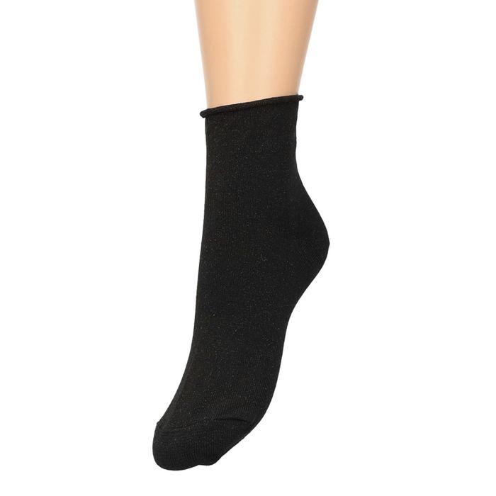 Schwarze Socken mit subtilem Glitzer