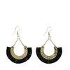 Boho-Ohrringe mit schwarzen Fransen