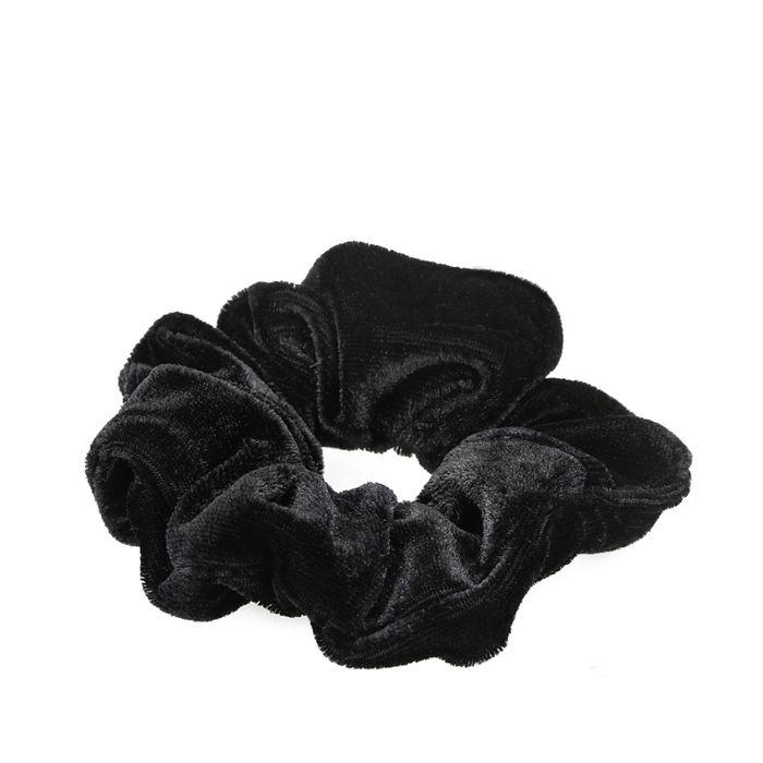 Schwarzer Samt-Scrunchie