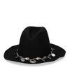 Schwarzer Cowboy-Hut mit Münzen