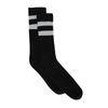 Schwarze Socken mit Glitzer-Streifen