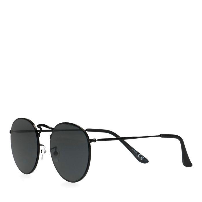 Runde schwarze Sonnenbrille