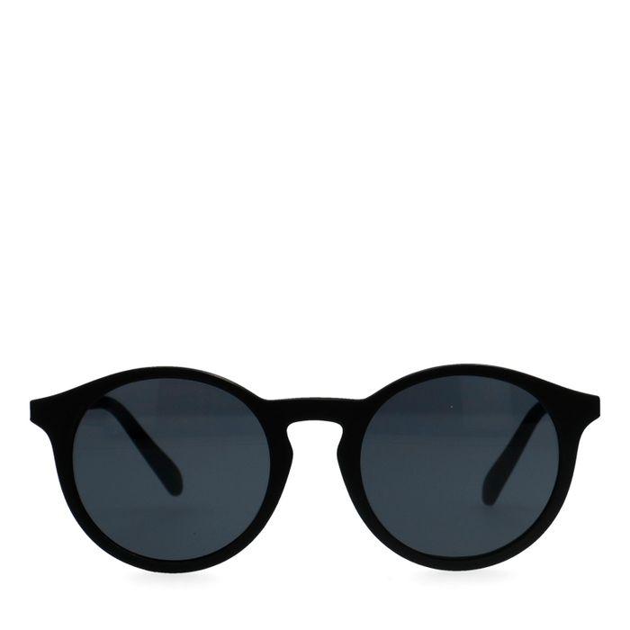 Mattschwarze runde Sonnenbrille