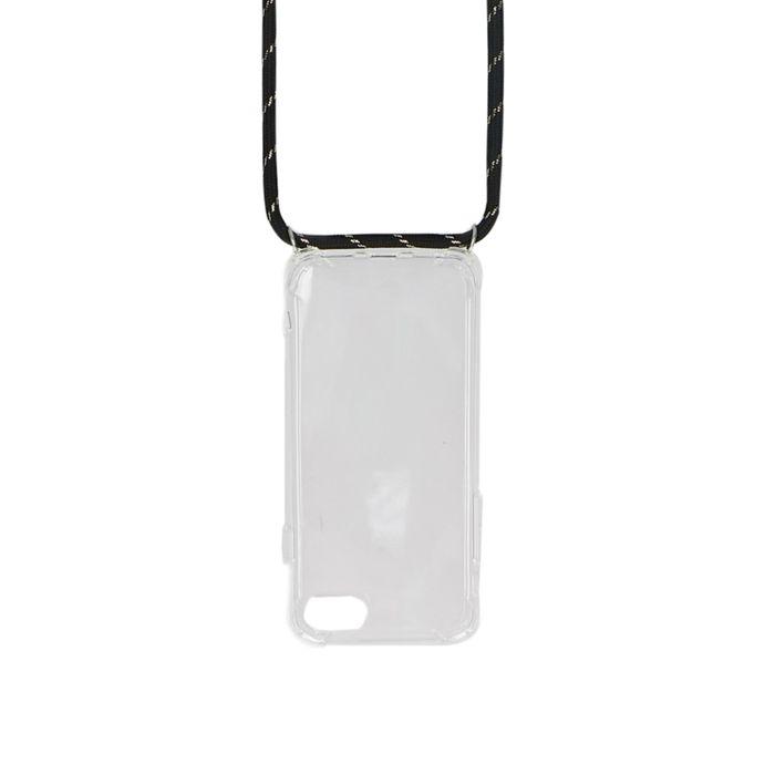 Verstellbare schwarze Handyschnur