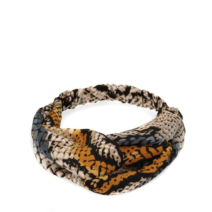 Bandeau imprimé serpent multicolore