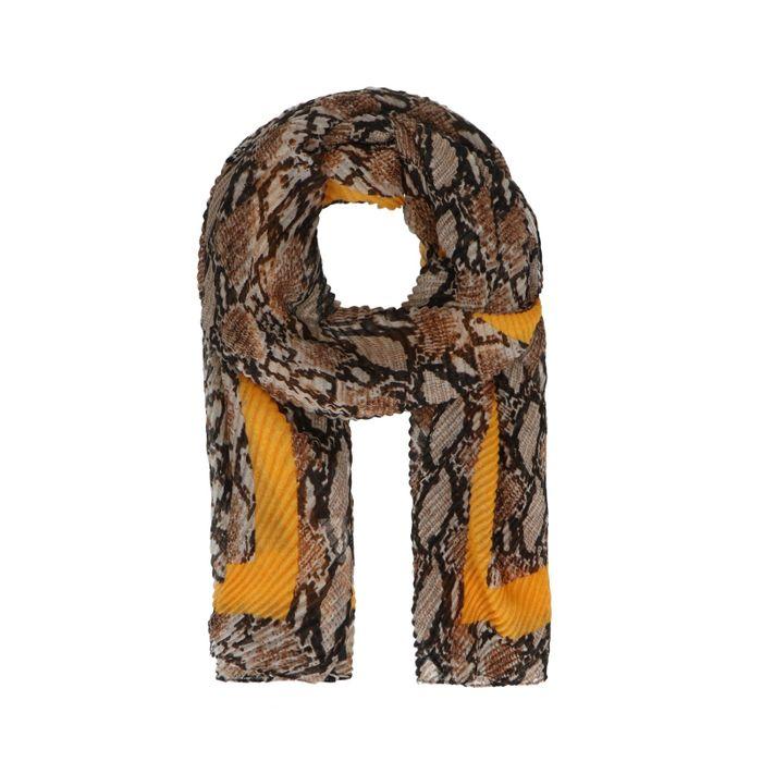 Écharpe avec imprimé serpent - marron