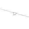 Silberfarbenes Armband mit Dreieck
