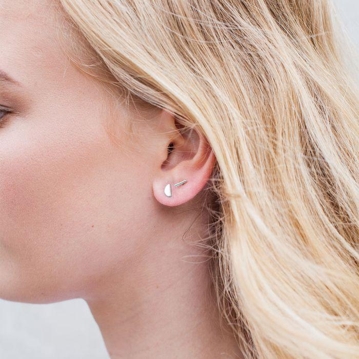 Set mit 3 silbernen Ohrringen