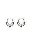 Silberfarbene Ohrringe mit Boho-Details