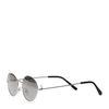Silberne Sonnenbrille mit kleinen ovalen Gläsern