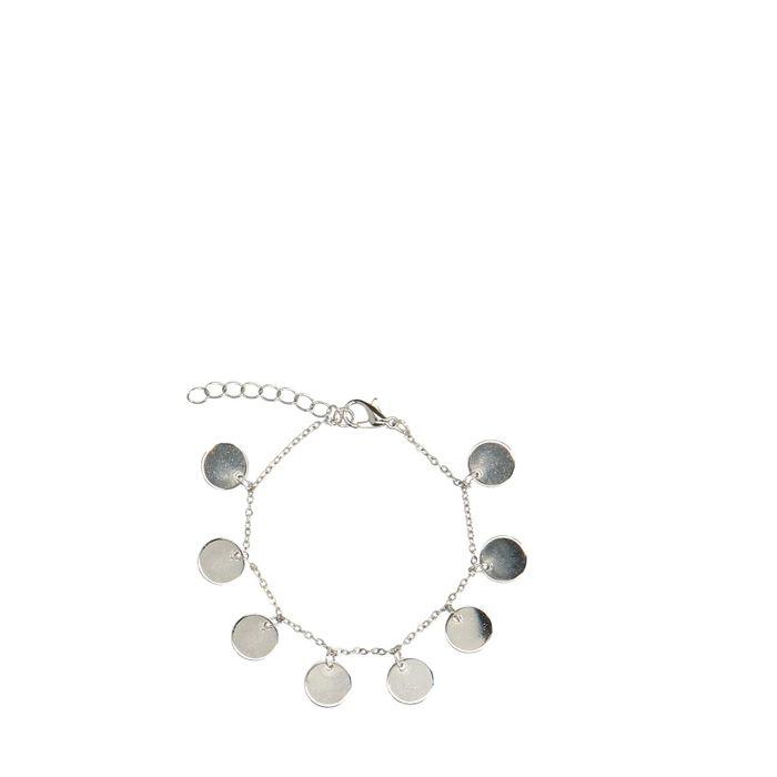 Silberfarbenes Armband mit kleinen Plättchen