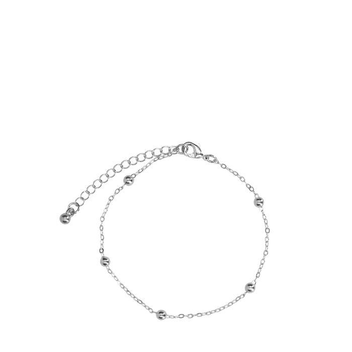 Silberfarbenes Armband mit Kügelchen