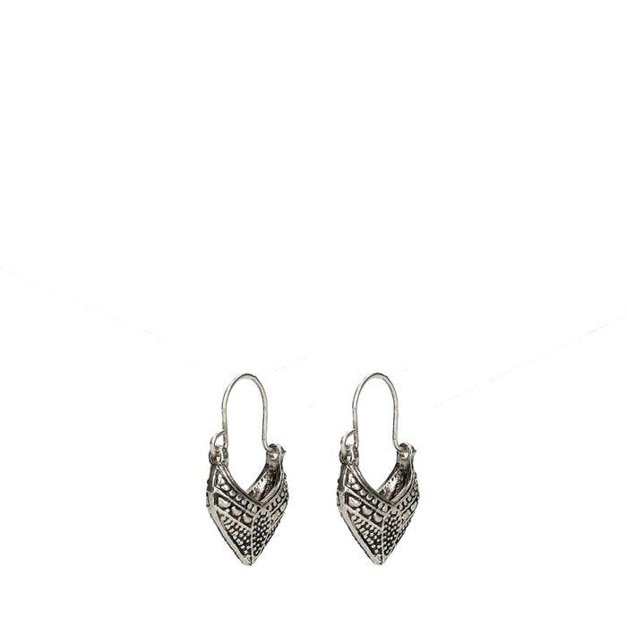 Silberfarbene Boho-Ohrringe