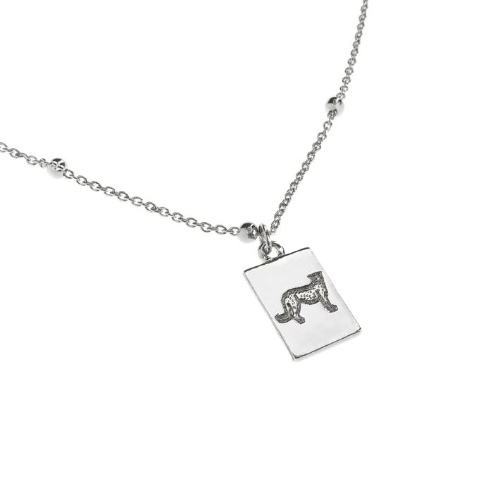 Silberne Kette mit Gepard-Anhänger