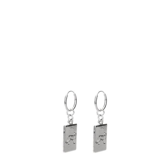 Silberne Ohrringe mit Gepard-Anhänger