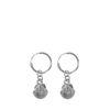 Silberne Ohrringe mit Muschel-Anhänger