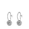 Silberne Ohrringe mit Münz-Anhänger