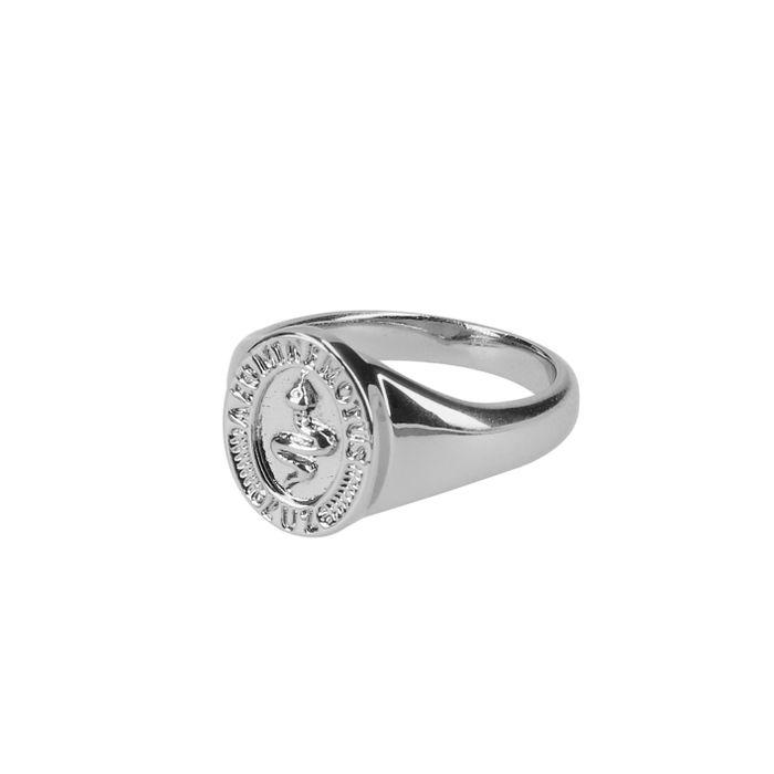 LUZ snake signet ring zilver