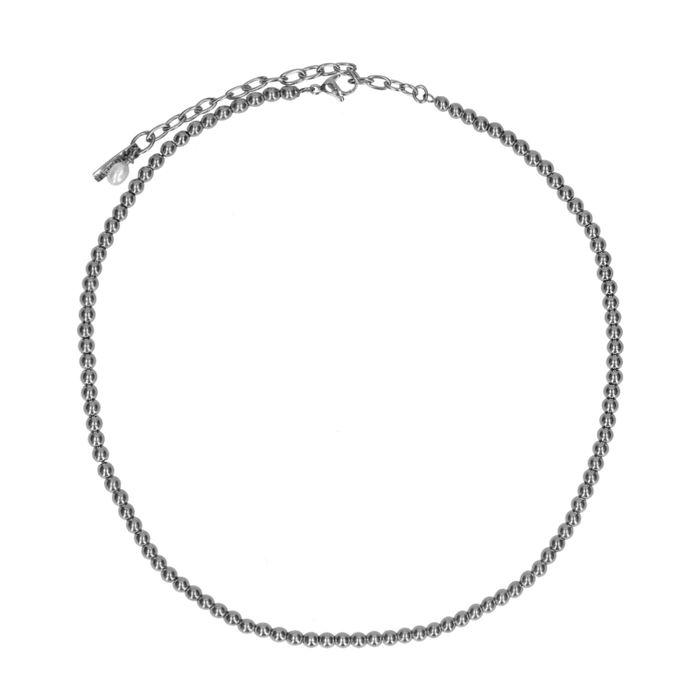 Zilverkleurige ketting met bolletjes