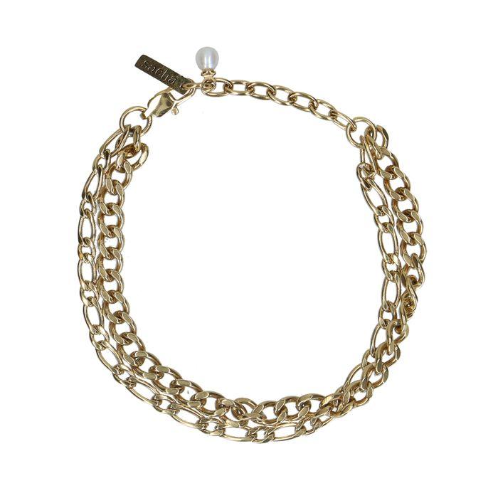 Doppeltes goldenes Glieder-Armband