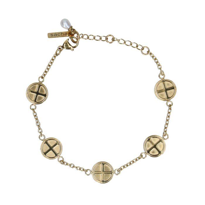 Goldenes Armband mit Münzen
