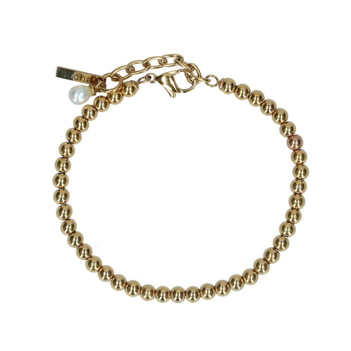 Goldfarbenes Armband mit Kügelchen