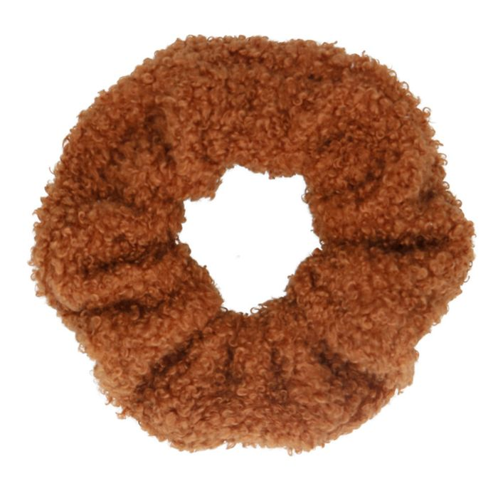 Kamelbrauner Teddy-Scrunchie