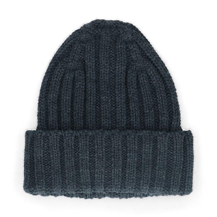 Graue Strick-Mütze