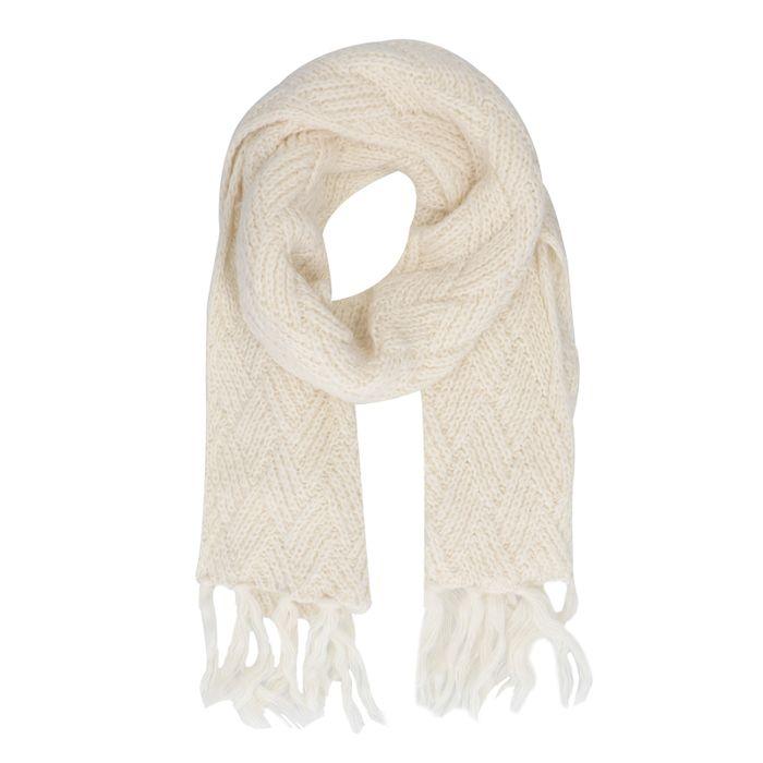 Offwhite Strick-Schal