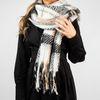 Offwhite Schal mit Karomuster