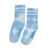 Blaue Tie-Dye-Socken