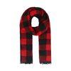 Rot-schwarz karierter Schal