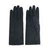 Schwarze Handschuhe mit Strick-Detail