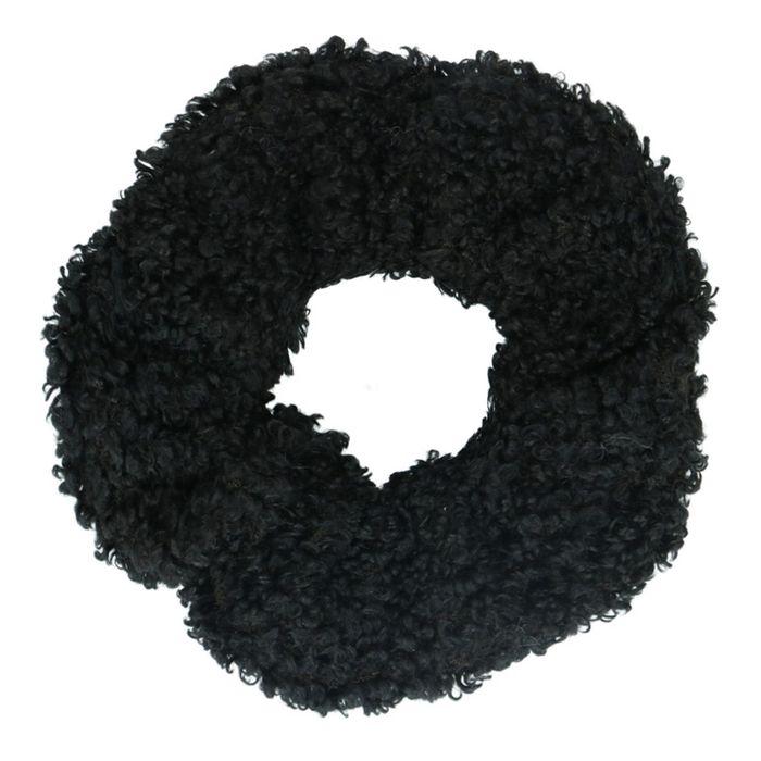 Schwarzer Teddy-Scrunchie