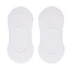 2er-Set Sneakersocken invisible weiß