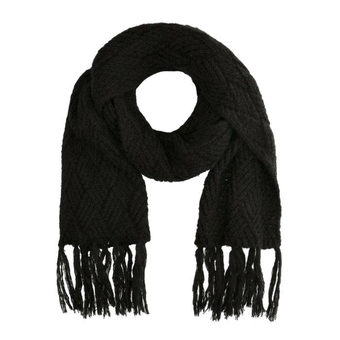 Schwarzer Strick-Schal
