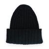 Schwarze Strick-Mütze