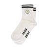 Weiße Socken mit Gänseblümchen